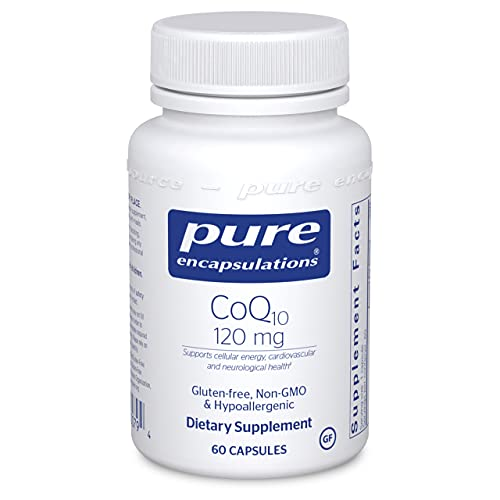 Pure Encapsulations CoQ10 120 mg | Coenzyme Q10 Supplement for Energy, Antioxidants, Brain and Cellular Health, Cognition, and Cardiovascular Support* | 60 Capsules