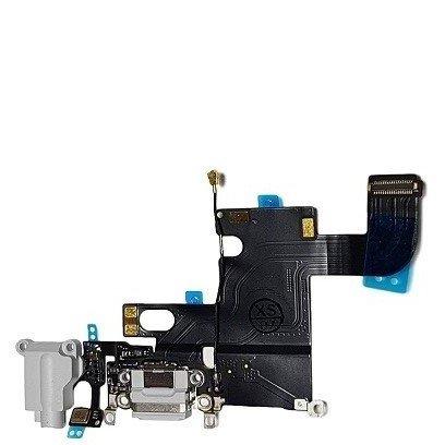 Smartex Connettore di Ricarica Compatibile con iPhone 6 6G Grigio Chiaro - Dock Charging Flex di Ricambio con Parti elettriche per Microfono, Antenna, audiojack, Tasto Home
