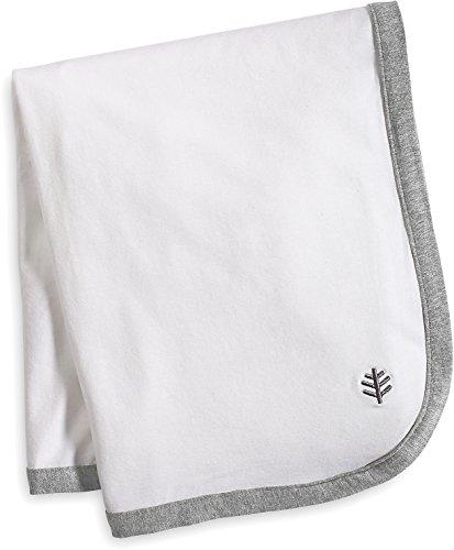 Coolibar UPF 50+ Baby Batibou Sun Blanket - Sun Protective (One Size- White/Grey Colorblock)