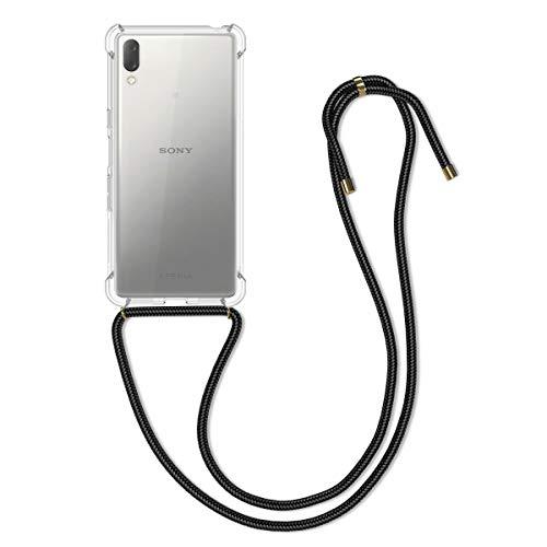 kwmobile Schutzhülle kompatibel mit Sony Xperia L3 - Hülle mit Kordel zum Umhängen - Silikon Handy Hülle Transparent