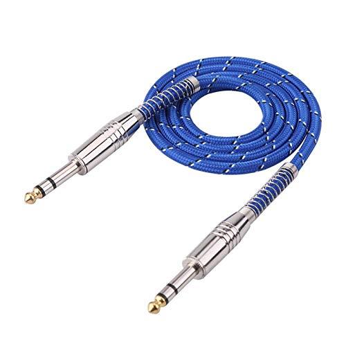 Richer-R Cable de Audio Estéreo 6.35 mm Jack HiFi Audio Auxiliar Cable...