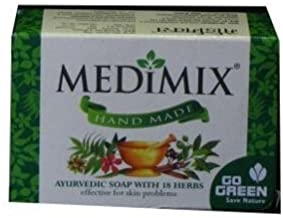Medimix Hand Made Ayurvedic Soap With 18 Herbs 115G (Pack of 4)