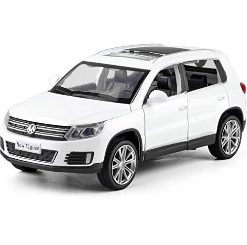 HTDZDX Alloy Diecast Toy Vehicles 1:32 Maßstab Ti-guan Hochdetaillierte Die-Cast-Modell Sammler Geschenke Für Männer (Size : White)