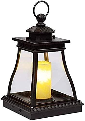 DFGBXCAW Luz de Pared para Poste Exterior Lámpara de Vela para Exterior Lámpara de Piso de césped para Postes de Valla de Madera Camino Cubierta de Piscina IP55 Candelabro de Aluminio Impermeable