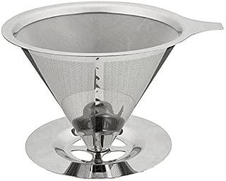 Candora ステンレススチール コーヒーフィルター 再利用可能 バスケット メッシュストレーナー