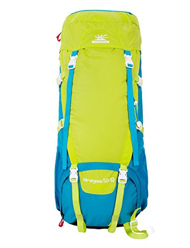 sac à dos randonnée Sports de plein air sac à dos alpinisme randonnée couverture de pluie hydrofuge 50L hommes et les femmes Sacs à dos de randonnée ( Couleur : 4# , taille : 50+10L )