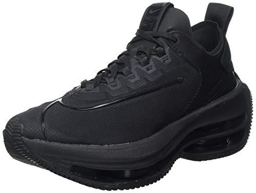 Nike Zoom Double Stacked, Scarpe da Ginnastica Donna, Black/Black-Black-Dark Smoke Grey, 38 EU