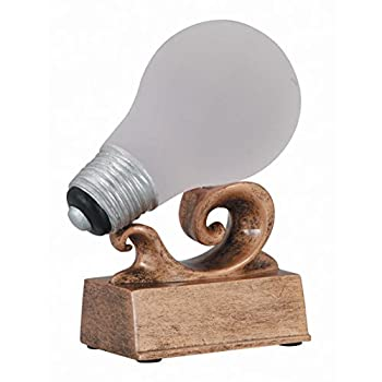 Light Bulb  Bright Idea  Trophy with 3 lines of custom text