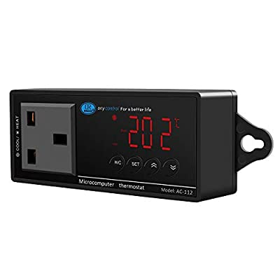 NICREW Digital LED Heating and Cooling Temperature Controller, Reptile Thermostat for Snake, Lizard, Tortoise, Vivarium and Other Reptiles, 1100W 220V
