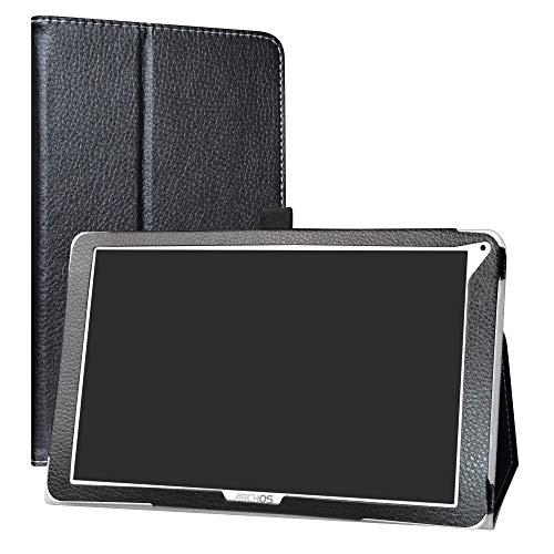 Labanema Archos Access 101 WiFi Coque, Slim Fit Cuir PU étui Housse Fin et Pliable pour Archos Access 101 WiFi 10,1 Pouces Tablette (Pas Digne Archos Access 101 3G) - Noir