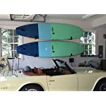 StoreYourBoard Naked SUP, The Original Minimalist Paddleboard Wall Storage Rack 15 HEAVY DUTY: Aluminum construction will hold your standup paddle board, and won't rust THE ORIGINAL MINIMALIST DESIGN: Great for displaying your paddleboard at home when you're not on the water PADDED PROTECTION: Heavy duty felt lines the rack's arms, keeping your SUP safe and secure while hanging on the wall