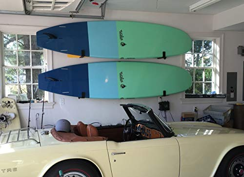 StoreYourBoard Naked SUP, The Original Minimalist Paddleboard Wall Storage Rack 6 HEAVY DUTY: Aluminum construction will hold your standup paddle board, and won't rust THE ORIGINAL MINIMALIST DESIGN: Great for displaying your paddleboard at home when you're not on the water PADDED PROTECTION: Heavy duty felt lines the rack's arms, keeping your SUP safe and secure while hanging on the wall