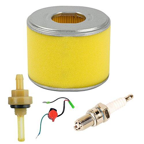 Oxoxo filtre à air avec bougie d'allumage Interrupteur marche/arrêt filtre de joint pour Honda Gx240 GX270 8HP 9hp Moteur pour tondeuse à gazon