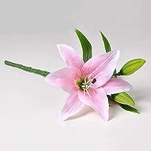 BOZLIZ - Artificial & Dried Flowers - Artificial Lily Wedding Bridal Bouquet Heads Fake Flower Simulation Home Decor - Flowers Dried Artificial