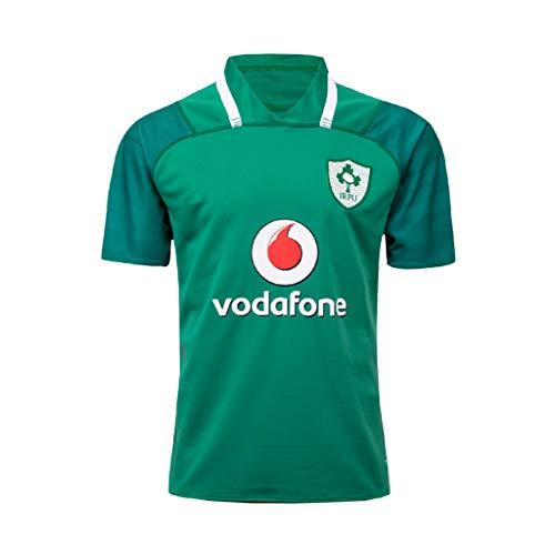 CRBsports Équipe De L'Irlande, Rugby Maillot, 17, Nouveau Tissu Brodé, Swag Sportswear (Vert, S)
