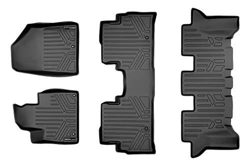 SMARTLINER Custom Fit Floor Mats 2 Row Liner Set Black for 2016-2019 Kia Sorento All Models