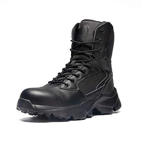 Botas de Seguridad para Hombres y Mujeres, Botas de Trabajo de construcción, Botas de Trabajo con Punta de Acero de Seguridad para Hombres, Zapatos de Trabajo antigolpes para Hombres-Negro_42