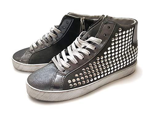 Converse Women's Chuck Taylor All Star Hardware Silver Sneakers 100% cuero, Plateado (plata), 41.5 EU (Ropa)
