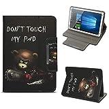 NAUC Archos 101 Platinum 3G Tablet Tasche Hülle Schutzhülle Case Cover Stand Etui Bag, Farben:Motiv 11