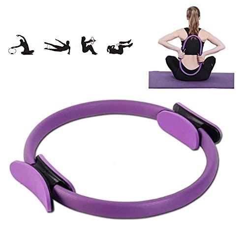 Dupo Círculo Mágico de Yoga Fitness, Anillo de Pilates, Círculo de Ejercicio de Tonificación de Cuerpo Completo, Anillo de Ejercicio de Alta Resistencia para Esculpir (Purple)