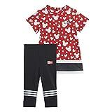 adidas GM6938 INF DY MM Sum Sport Set Baby-Girls Top:Vivid Red/White/Black Bottom:Black/White 912M