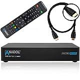 Anadol Multibox 4K UHD E2 Linux Combo Sat- Kabel- DVB-T2 Receiver mit DVB-S2 und DVB-C/T2 Tuner, HDTV, 2160p, H.265, PVR, HDR, mit HDMI Kabel [vorprogrammiert für Astra & Hotbird]