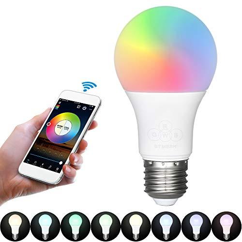 Decdeal Smart LED Lampen Intelligente Birne 16 Millionen Farben und Warmes Weiß Mit Timer Musikmodus und Kamerafunktion Telefon Fernbedienung