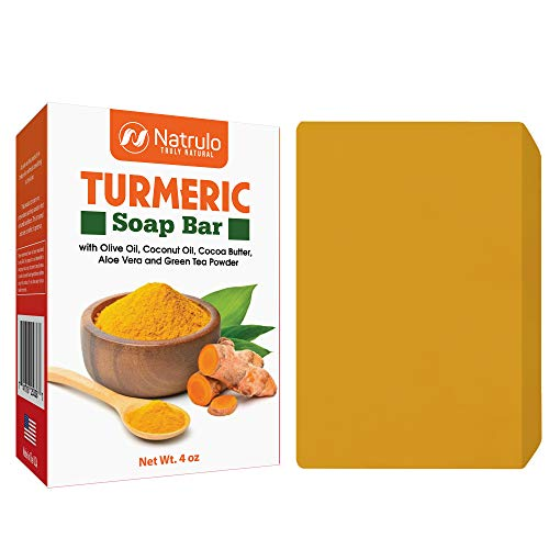 Turmeric Soap Bar for Face & Body - All Natural Turmeric Skin Soap - Turmeric Face Soap Reduces Acne, Fades Scars & Cleanses Skin - 4 Oz Turmeric Bar Soap for All Skin Types Made in USA