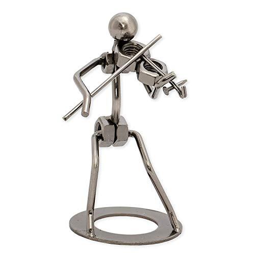 Metal Violinist Figurine