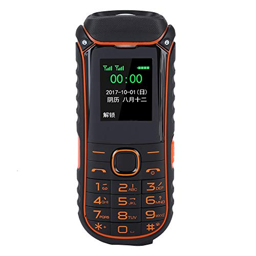 Ciglow Old People Mobile Phone, Portable Outdoor Quad Band Simple Loud Voice Cellphones with LED Flashlight, Big Buttons, Long Standby for Old People.(#1)