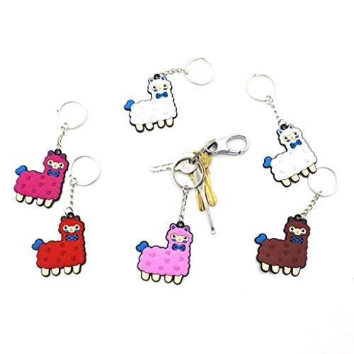 Formemory 12Pcs Llama Keychain Set, Alpaca Bag Ornaments with Animal Inspired Key Ring Random Color