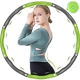 DUTISON Hula Hoop, Hula Hoop Reifen Fitness Erwachsene, 6-8 Segmente Abnehmbar und GröSse Einstellbar Hoola Hoop Reifen für Gewichtsreduktion/Fitness/Sport