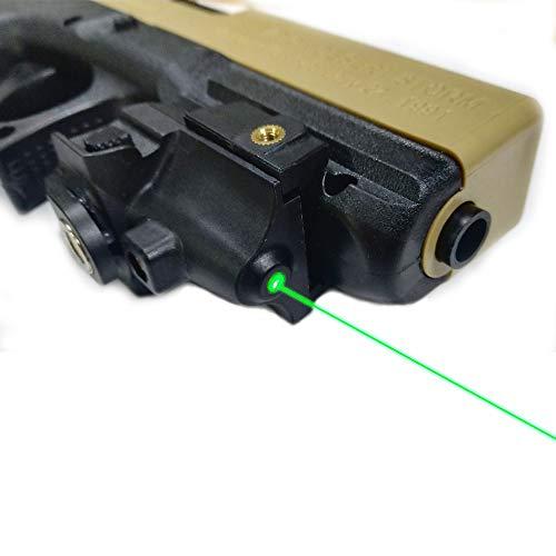TTAS Tactical Green Laser Sight, Compact Laser Sight Fit Standard Picatinny Rail Gun Low Profile Pistol Magnetic Charging Green Laser