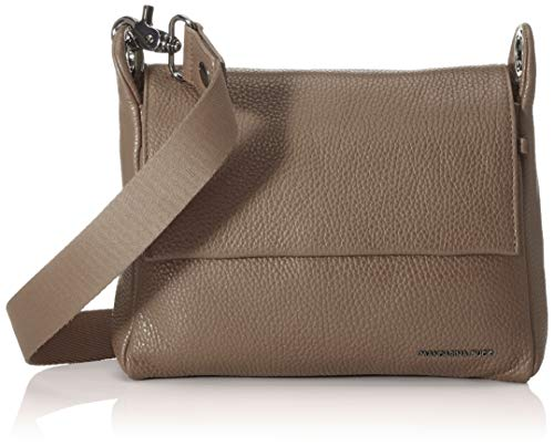 Mandarina Duck Damen Mellow Leather Tracolla/Nero Kuriertasche, Grau (Amphora), 21x15x6 Centimeters