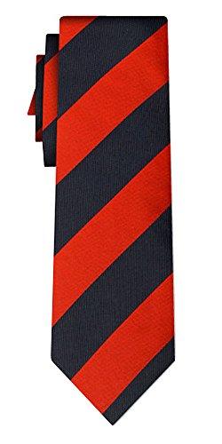 Cravate rayée stripe L red navy (P)