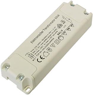 Leistungsbereich 60Watt Elektronischer Halogen Trafo Transformator Dimmbar f/ür Niedervolt Halogen LM 20 bis 60Watt
