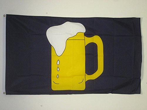 AZ FLAG Flagge GELBES Bier 90x60cm - DIE BAR IST GEÖFFNET Fahne 60 x 90 cm - flaggen Top Qualität