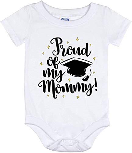 Toll2452 Orgullo de mi mami de graduación mami bebé mami bebé mono recién nacido traje mameluco