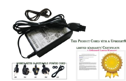 UpBright New Genuine AC/DC Adapter for HP PHOTOSMART 7510 E-All-in-ONE Series Inkjet Printer Hewlett-Packard OEM Power Supply Cord Battery Charger Mains PSU