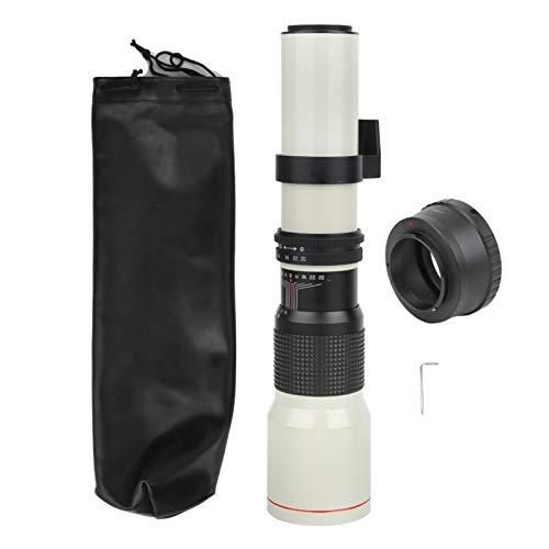 ciciglow Lente telescópica, 500 mm F8-F32 Lente Focal Fija con teleobjetivo de Enfoque Manual para cámara con Montura Olympus M4 / 3