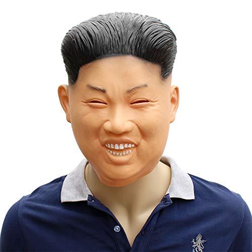 RENS Halloween Kim Jong-Un Maske, Lustige Horror Latex Vollmaske, Neuheit Maskerade Kostüm Party Lustige Requisiten