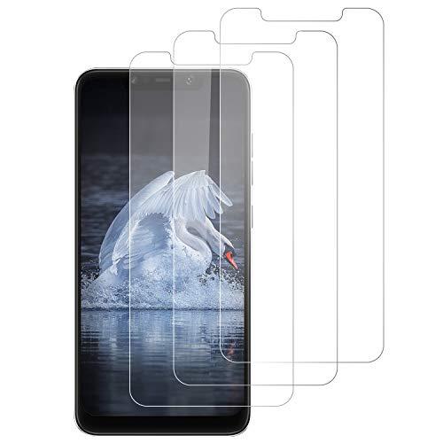 RSSYTZ [3 Pack] Protector de Pantalla para Xiaomi Pocophone F1, [9H Dureza] [Resistente a Arañazos] [Admite la función de Huella Digital] Vidrio Templado Screen Protector para Xiaomi Pocophone F1