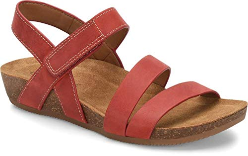 Comfortiva Women's Gardena Red 10 B(M) US