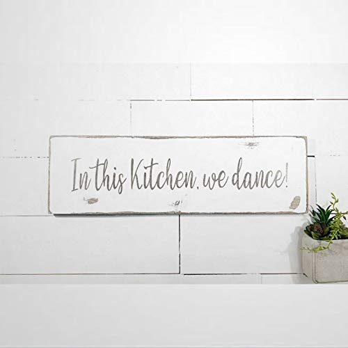 BYRON HOYLE Weathered in This Kitch We Dance by Beatiful Wood Wall Decor Sign,Custom Wood Sign,Wooden Plate Art para Pascua, Día del Padre, Día de la Madre, Hogar, Jardines.