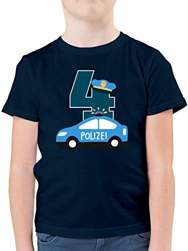 Geburtstag Kind - Polizei Geburtstag 4-116 (5/6 Jahre) - Dunkelblau - Kinder t-Shirt Polizei - F130K - Kinder Tshirts und T-Shirt für Jungen