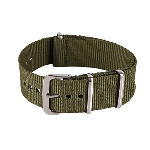 High-end Textile Canvas Watch Band Strap Replacement for Men Band Strap...