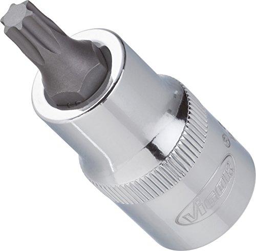 Vigor Torx Schraubendreher-Einsatz T45, 55mm, 1/2 Zoll, 1 Stück, V2156