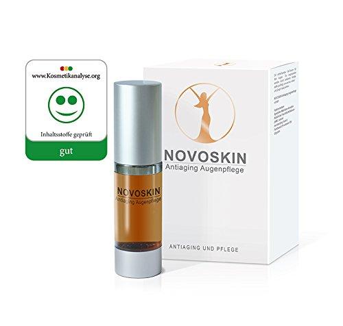 Augenpflege Hyaluron Serum von NOVOSKIN - NOVOSKIN Antiaging Augenserum mit Hyaluronsäure, speziellem Matrikine Komplex, Panthenol (Provitamin B5), natürlichen Feuchthaltefaktoren und Glycerin - 15ml