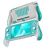 TNP Funda Protectora Pro con Agarres para Nintendo Switch Lite Consola (Color Azul), Accesorio Ligero Delgado con Absorción de Choques, Carcarsa Antiarañaza con Comodidad Ergonómica Mejorada
