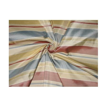 Cream and Light Gold Floral Silk Fabric By The Yard